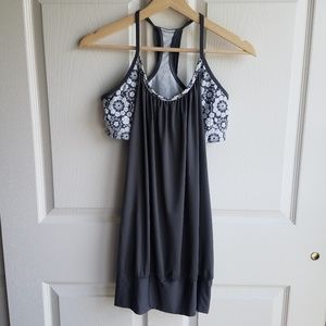 Lululemon Gray Floral No Limits Tank Top Size 8